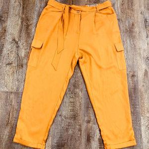 NWT Chico's 3 Soft Utility Cargo Pants Marigold